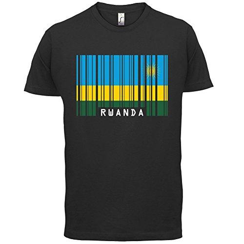 Rwanda / Ruanda Barcode Flagge - Herren T-Shirt - 13 Farben Schwarz