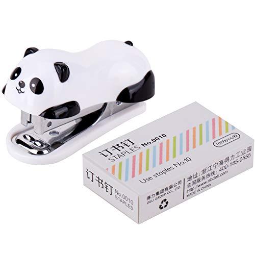 1 Set Panda Agrafeuse Animaux Motif Bureau Agrafeuses Relie One...