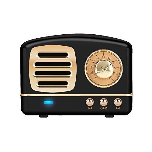 Portable bluetooth altoparlante stereo, migliorata bass retro altoparlante wireless vintage con tf card slot, microfono integrato per dispositivi android/ios