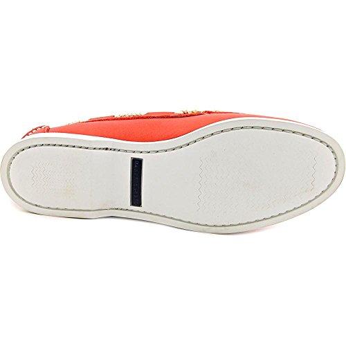 Ralph Lauren Thad Hommes Cuir Chaussure de Bateau red