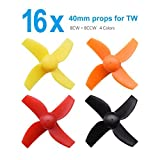 BETAFPV 4 Sets 40mm 4-blade Micro Whoop Propellers with 1.0mm Shaft for Inductrix FPV Plus Kingkong Tiny 7 etc