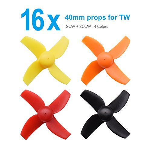 BETAFPV 4 Sets 40mm 4-blade Micro Whoop Propellers with 1.0mm Shaft for Inductrix FPV Plus Kingkong Tiny 7 etc (7 Propeller)