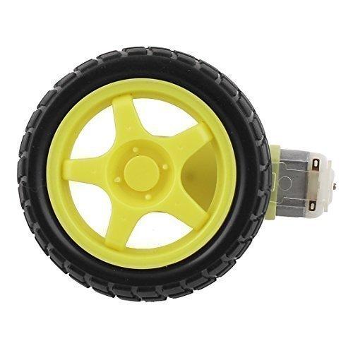 sourcingmapr-148-plastic-tire-tyre-wheel-w-dc-3-6v-gear-motor-smart-car-robot