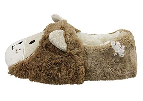 Damen Pantoffeln, Damen Süße Winter Baumwolle Hausschuhe Plüsch Wärme Weiche Kuschelige Home Rutschfeste Slippers für Damen Braun Braun(38/39)