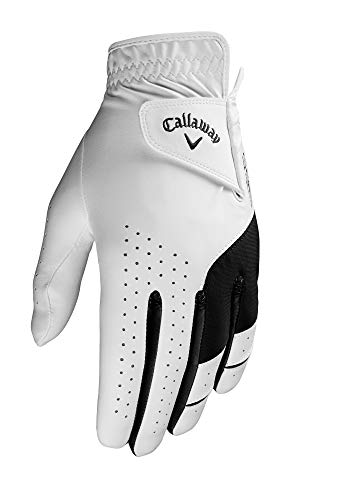 Callaway Golf Men's Weather Spann Premium Japanese Synthetic Golf Glove, Worn on Left Hand, Cadet Medium/Large