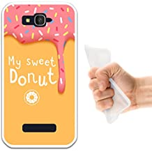 WoowCase Funda Alcatel One Touch Pop C7, [Alcatel One Touch Pop C7 ] Funda Silicona Gel Flexible My Sweet Donut, Carcasa Case TPU Silicona - Transparente