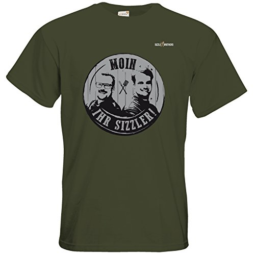getshirts - SizzleBrothers Merchandise Shop - T-Shirt - SizzleBrothers - Grillen - Sizzler Stamp black Khaki