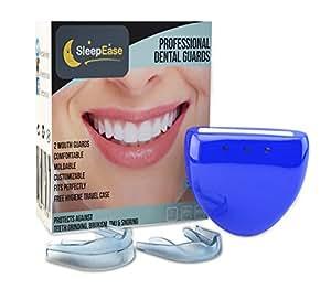 SleepEase PREMIUM Nachtzahnspange! SCHLUSS MIT ZÄHNEKNIRSCHEN! 2 verschiedene Zahnknirsch-Schützer - mit Wissenschaftlern entwickelt - zum Verhindern von Zähneknirschen, Bruxismus und Schnarchen