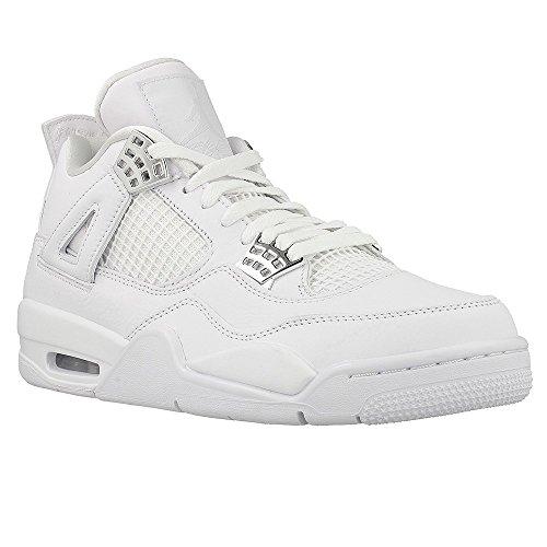 Nike - Air Jordan 4 Retro - 308497100 - Farbe: Weiß - Größe: 46.0 (Nike Schuhe Größe 4)