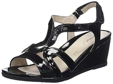 Sweet III 8 Patent, Scarpe con Cinturino alla Caviglia Donna, Nero (Black 000), 37 EU Stonefly