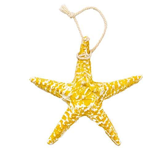 iBàste Colgante de Estrella de mar Colgante de Pared de Resina sintética Color Innovador Decoración del hogar Artístico Designable Party Supplies 13X13cm