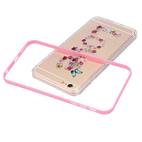 SainCat Coque Housse iPhone 6 Plus, Souple Coque Etui en Silicone, iPhone 6S Plus Silicone Transparent Case TPU Cover, Etui de Protection Cas en caoutchouc en Ultra Slim Souple Cristal Clair Gel TPU B camélia