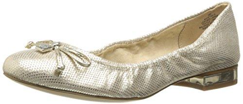 Anne Klein Frauen Flache Schuhe Gold Groesse 5 US /35.5 EU (Schuhe Klein-flache Anne)