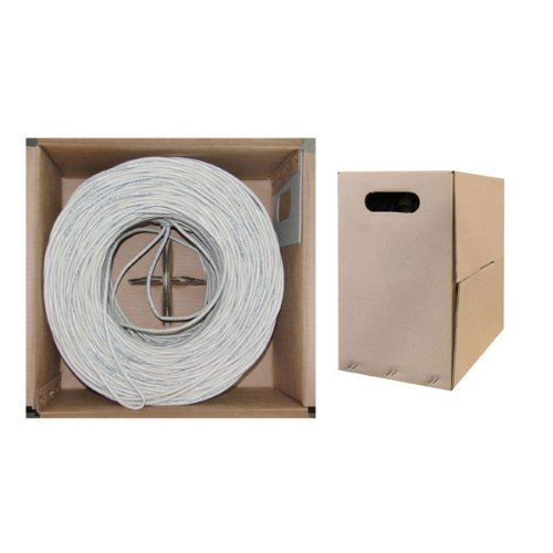 cablewholesale 's Bulk CAT6 Ethernet Kabel, gestrandet, UTP (Unshielded Twisted Pair), pullbox weiß weiß 1000 Feet (Cord 24 Awg Patch)