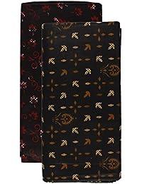Papaya Men's Cotton Lungi (Multi-Coloured, 2.10 Meter, Pack of 2)