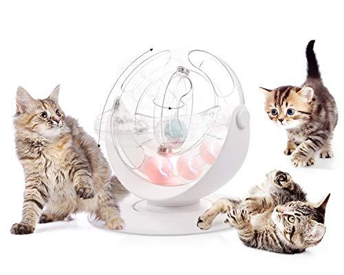 Pecute Juguete gato Juguete bola pista espacio giratoria