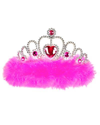 Hen Party Motto Kostüm - Horror-Shop Party Krone pink