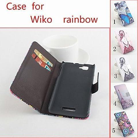 De cuero flip caso protector magnético para el arco iris wiko (colores surtidos) ( Color : 5 )