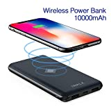 iWALK Qi Chargeur sans Fil Batterie Externe 10000mAh de Secours Chargeur Portable Intelligent Power Bank avec PD QC Output pour iPhone X/8/8 Plus,Samsung Galaxy S9/S8/S7/S6 Edge+/Note8 etc