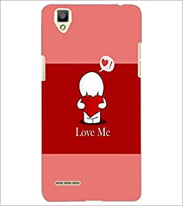 PrintDhaba Quote D-4038 Back Case Cover for OPPO F1 (Multi-Coloured)