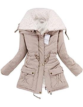 [Sponsorizzato]Minetom Cappotto Invernale Da Donna Giacca Trench Lungo Parka con Cappuccio Imbottito Giubbino Sport Felpa Giacche...