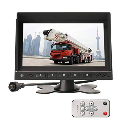 MiCarBa 7 Zoll-HD Auto-Parkmonitor, Auto-Umkehrungs-Ausrüstung für CCTV-Sicherheits-Überwachungs-Auto-Kopfstützen-Rückseiten-Kamera-Monitor-AV-Eingang ... (Cctv-ausrüstung)
