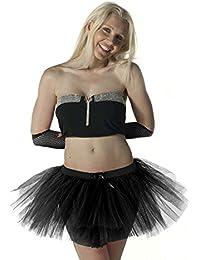 Crazy Chick Women's Halloween 3 Layer Tutu Skirts Dance Wear Fancy Dress