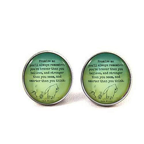 aaaaAA Ohrringe, mit Spruch Pooh Zitat, Geschenk zum Abschluss, inspirierendes Zitat