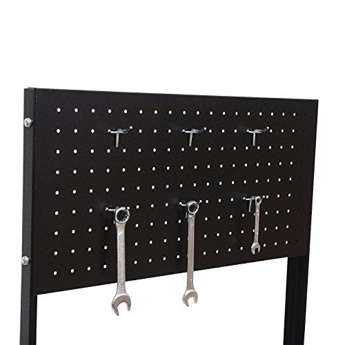 Homcom Werkstattwagen mit Lochplatte, 7 Schubladen, abschließbar - 3