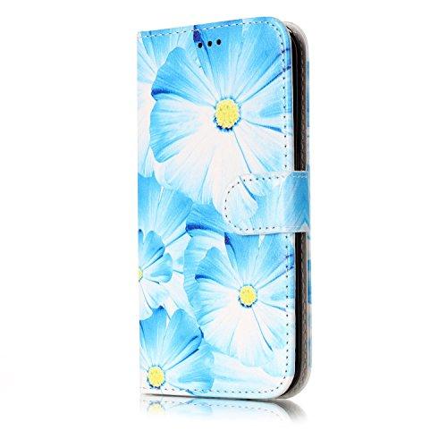 Chreey Schutzhülle Samsung Galaxy S6Edge, Marmor (Marble) Serie, Motiv Premium Flip Leder PU Wallet Schutzhülle für Samsung Galaxy S6Edge (Herren-jordan Brieftaschen)