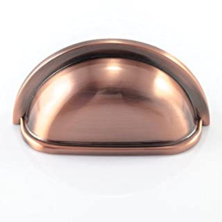 Abrafix Antique Brushed Copper Finish 76mm Hole Centres Kitchen Cup Handles Henrietta