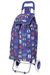 Hoppa Cabas Shopping ultra léger Capacité de 2 roues pour chariot à bagages (Bleu 175)