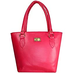Shevanna PU Leather Pink Handbag for Women and Girls