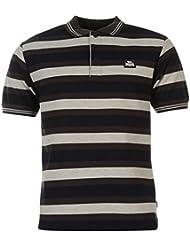 Lonsdale Drei Block Streifen Herren Polo Poloshirt T Shirt Kurzarm Tee Top