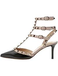Lutalica Zapatos de tacón Alto con Punta en Punta para Mujer Sandalias de tacón  Alto con 7b0d4454cc85