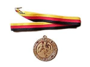 1 große Sport-Medaille mit Wunschemblem und Deutschland
