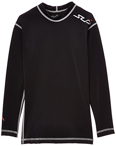 Dual Base (Sub Sports Kinder Dual Kompressionsshirt Funktionswäsche Base Layer langarm, Schwarz, 152/164)