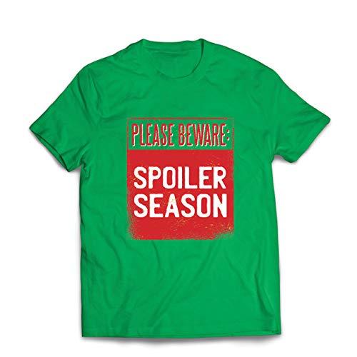 lepni.me Männer T-Shirt Achtung: Verwöhnte Jahreszeit, sarkastischer Slogan, humorvolles Geschenk (XX-Large Grün Mehrfarben)