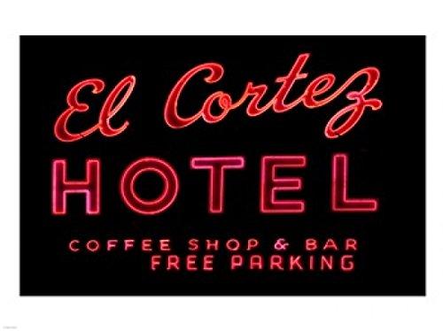 The Poster Corp Historic EL Cortez Hotel neon Sign Freemont Street Las Vegas Kunstdruck (60,96 x 45,72 cm) - Las Vegas Street Sign