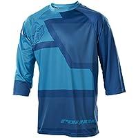 Royal Racing Drift maillot manga 3/4Hombre Amarillo ácido/azul eléctrico/azul, camiseta, color Bleu Marine/Bleu Électrique/Bleu Ciel, tamaño medium