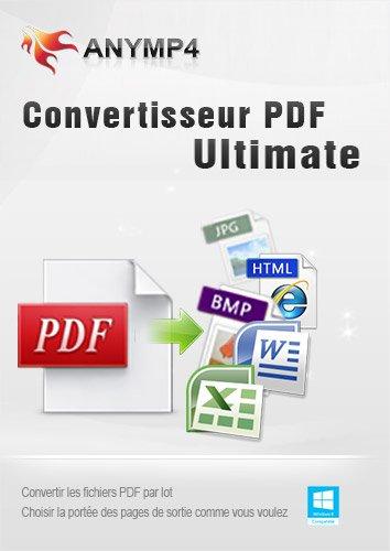 AnyMP4 Convertisseur PDF Ultimate - Convertir PDF en formats de document (Texte/Word/Excel/PowerPoint/EPUB/HTML, etc.) et d'image (JPEG, PNG, GIF, TIFF, etc.) populaires sur l'ordinateur Windows 10/8/7/Vista/XP [Téléchargement]