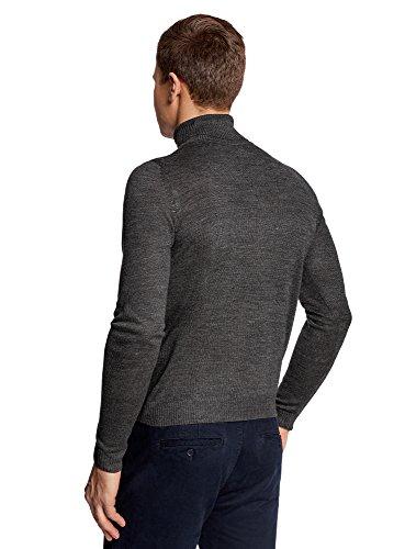 oodji Ultra Herren Pullover Basic Grau (2500M)