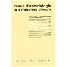 Revue d'assyriologie et d'archéologie orientale, numéro 2: 1999