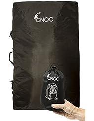 CNOC - Funda Cubierta De Mochila Protector De Lluvia Impermeable Recorrido Senderismo Mochilas Polvo 70L- 80L para Acampada - Negro