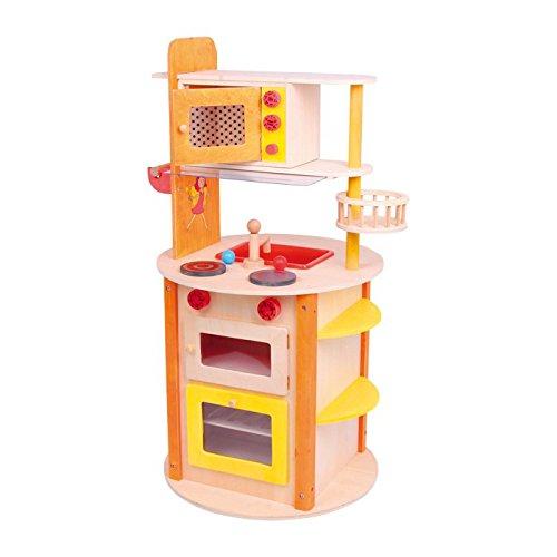 """Preisvergleich Produktbild Küche """"all in one Leonie"""" aus stabilem Holz, mit vielen Funktionen ausgestattet, verspricht rundherum kreatives Spielvergnügen auf kleinstem Raum, ein absoluter Traum für kleine Köche ab 3 Jahren"""