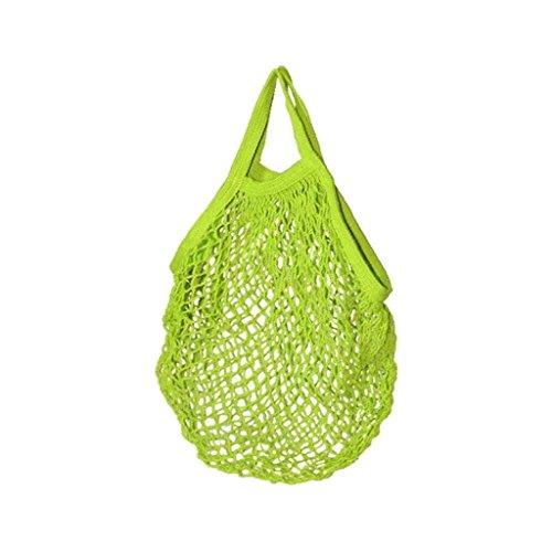 Filet à provisions - Cabas en coton Bio - 45x45cm - Vert Anis