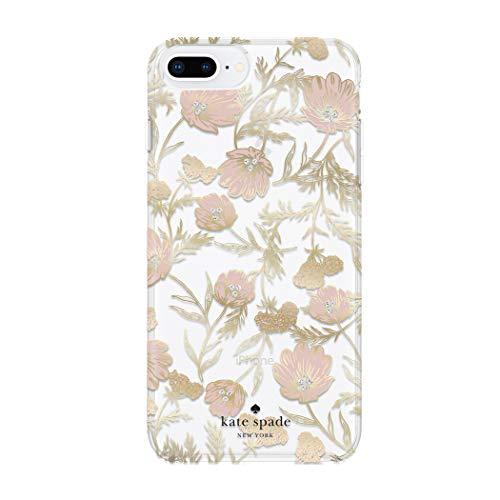 kate spade New York Handy Fall für iPhone 8Plus/7Plus/6PLUS/6S Plus-Multi Blossom Pink/Gold mit Gems Plus-handy-fall