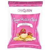 Fettarme Low Carb Protein Chips als leckerer Fitnesssnack | Gesunde Alternative zu herkömmlichen Kartoffelchips | Knusprige Gym Queen Eiweiß Chips (1 x 50g Tüte) – Paprika