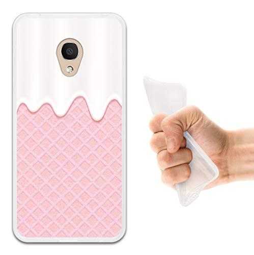 WoowCase Alcatel 1C DUAL SIM Hülle, Handyhülle Silikon für [ Alcatel 1C DUAL SIM ] Weisse Schokolade & Waffel Handytasche Handy Cover Case Schutzhülle Flexible TPU - Transparent