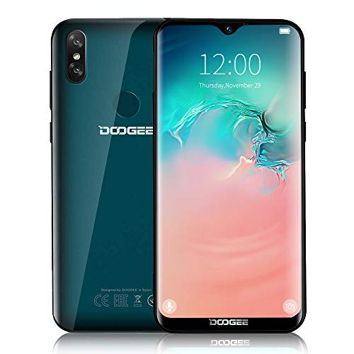 DOOGEE Y8-2019 New (3GB + 32GB) Handy 4G LTE, Android 9.0 OTA Face Unlock 3400mAh, Smartphone Ohne Vertrag Dual Nano SIM, (15,68cm 6.1 Zoll Display (1280 * 600) Kamera 5MP+8MP+5MP Fingerabdruck-Grün
